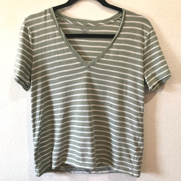 Madewell Tops - Madewell striped v neck t shirt